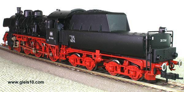 Dampflok der Deutschen Bundesbahn BR 38 LokNr. 38 3346 Digital-Sound ...