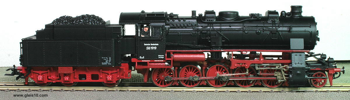 Dampflok der Baureihe 58 (BR 58) LokNr. 58 1919 Digital-Sound, mit ...